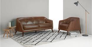 Cognac Leather Sofa by Nevada 2 Seater Sofa Antique Cognac Leather Made Com