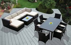 gray wicker resin patio furniture home outdoor decoration