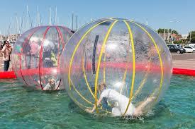 plastic balloons children inside plastic balloons on the w editorial