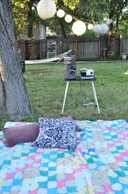 domestic fashionista smore backyard movie night