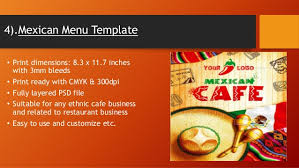flyer menu template best food menu flyer print template