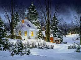 Winter Houses Winter House Painting Background Gallery Yopriceville High