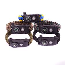 bracelet survival images Led light survival bracelet men outdoor multi function braid jpg
