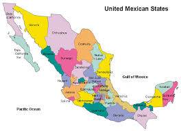 map of mexico with states where is mexico