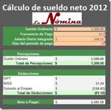 como calcular el sueldo neto mexico 2016 piramidacion el conta punto com