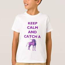Customize Meme - keep calm catch a purple unicorn kids t shirt