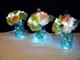 wedding centerpieces with flowers and lights fabulous