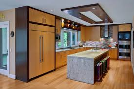 natural light floor l plasterboard suspended ceiling to contemporary kitchen style and