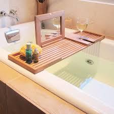 bathtub caddy with book holder shocking designs cozy bath caddy book holder the pacifica teak