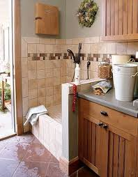 garage dog kennel ideas mudroom dog washing station doubles as a