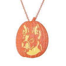 memorial pendants boston terrier pumpkin necklace dog lover memorial pendants
