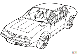 renault alpine a310 renault alpine a310 coloring page free printable coloring pages