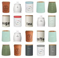 accessories storage jars for kitchen set of vintage shabby chic tea coffee sugar canisters pots kitchen storage jars ceramic cheap for kitchen large size