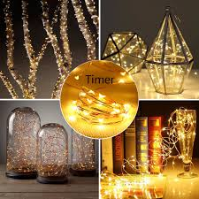 starry string lights waterproof led starry string lights warm white 6h timing battery