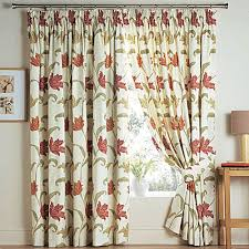 Terracotta Blackout Curtains Kinsale Terracotta Floral Lined Top Pair Curtains Free Tie Backs