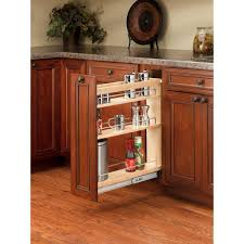 Kitchen Cabinet Spice Rack Slide by Rev A Shelf 25 48 In H X 5 In W X 22 47 In D Pull Out Wood Base