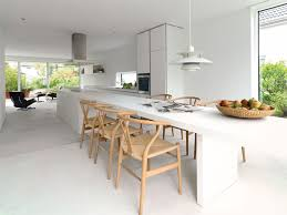 amazing modern kitchen island with seating chloeelan modern white kitchen island and extended long table with sculptural wisbone chairs seating amazing