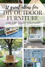 Diy Patio Furniture Plans 12 Diy Outdoor Furniture Ideas Love U0026 Renovations