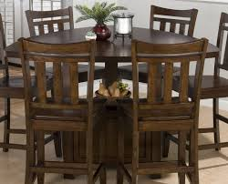 triangle dining room table triangle dining set jofran boynton brown 54x54 triangle counter