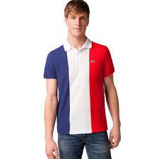 French Flag Banner Lyst Lacoste France Flag Pique Polo Shirt For Men