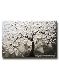 white tree original abstract tree paintings blossoming trees
