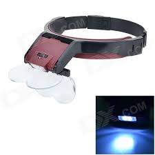 magnifier with led light mg81001 b multipurpose loop headband magnifier w led light free