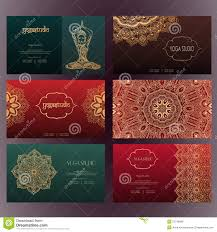 Invitation Business Cards Set Of Business Card And Invitation Card Templates With Lace