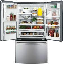ge glass door refrigerator ge gfe29hsdss 28 6 cu ft french door refrigerator with spill