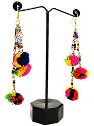 funky earrings muccasacra trendy funky handmade multicolour thread dangle