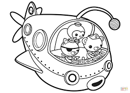 octonauts off to adventure coloring page free printable