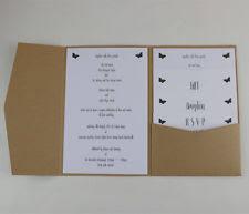 Wedding Pocket Invitations Pocket Envelopes Ebay