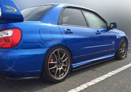 hawkeye subaru subaru impreza sti 03 07 side skirt extensions u0026 rear lips