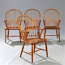 Windsor Armchairs Set Of Four Windsor Armchairs Of Patinated Oak Vertical Bars In