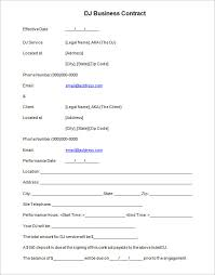 8 dj contract templates u2013 free word pdf documents download