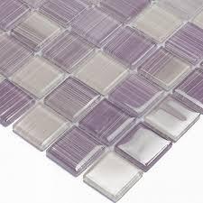 purple hand painted diy crystal glass mosaic tiles children kids