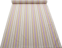purple and yellow 100 cotton floral metro stripe designer
