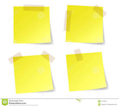 stick paper yellow stick note papers stock vector illustration of list 42118811