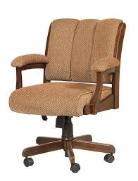 amish edelweiss desk chair with arms