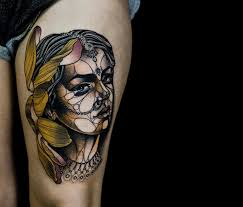 tattoos fuse fine art with polygons by renan batista scene360