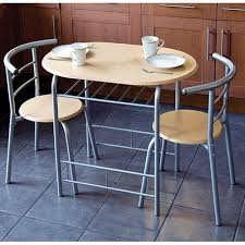 New Pc Dining Set  Chairs And Table Metal Frame Wooden Seat - Dining room table for 2