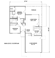 2 car garage sq ft ranch style house plan 2 beds 2 baths 970 sq ft plan 116 151