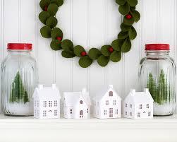 diy putz village christmas decorations diy christmas putz