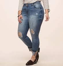 American Flag Skinny Jeans Destructed Split Cuff Skinny Jean Plus Size Jean Loralette
