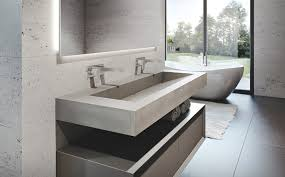 Bathroom Vanity New York by Trueform Concrete Custom Concrete Bathroom Sink And Tub Surround