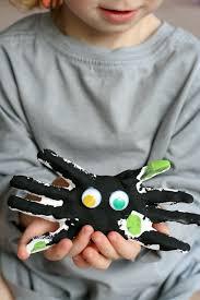 diy kid halloween keepsake handprint spiders children s