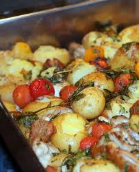 cuisiner pomme de terre nouvelle poulet croustillant aux pommes de terre nouvelles écrasées et aux