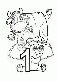 number 1 coloring pages for preschoolers counting numbers