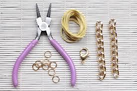 diy bracelet with chain images Diy chain bracelet how to make a link bangle jpg
