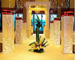 wedding decoration supplies wholesale wedding supplies hollow out pillar without light wedding