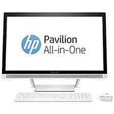 ordinateur de bureau hp tout en un hp pavilion 27 a217nf pc de bureau tout en un 27 hd blanc